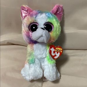 Ty Beanie Boo multi-colored dog